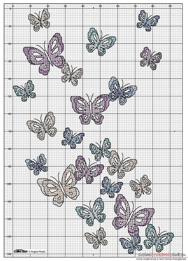 Вышивки для детей бабочки