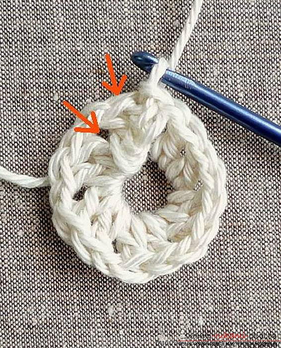 Красивый напольный коврик крючком для начинающих. Фото №11
