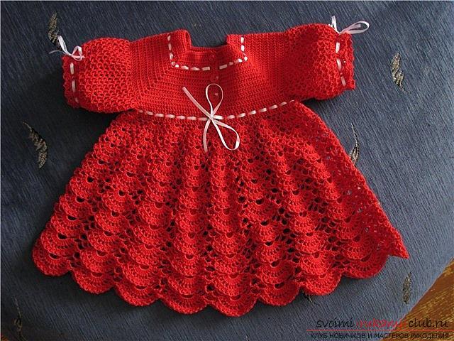 Как связать красивое платье