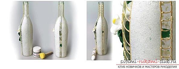 Как украсить бокалы полимерной глиной и как сделать кольца для салфеток из термопластики.. Фото №10
