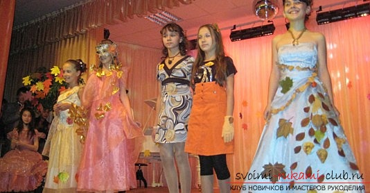 Как сделать осеннее платье