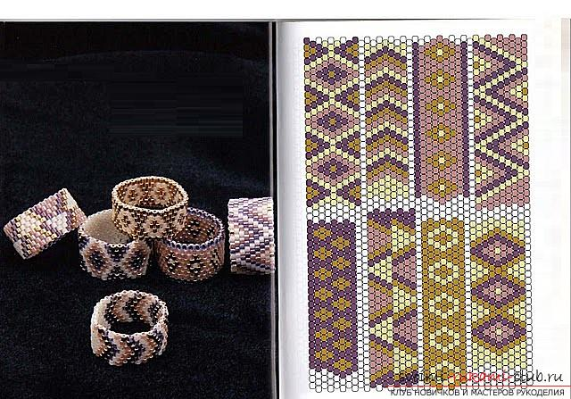 Схемы и несколько мастер классов с фото по плетению браслетов из бисера,. Фото №18