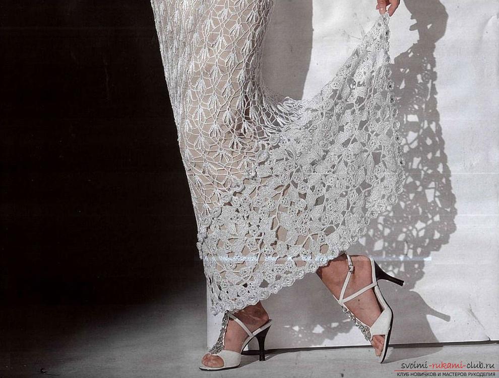 Как связать кружевные платья своими руками крючком, используя различные техники вязания.. Фото №2