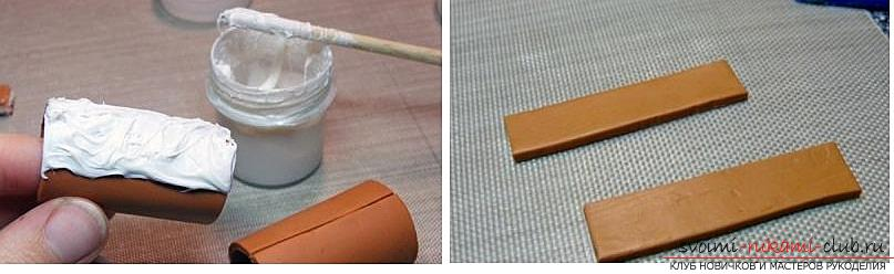 Как украсить бокалы полимерной глиной и как сделать кольца для салфеток из термопластики.. Фото №31