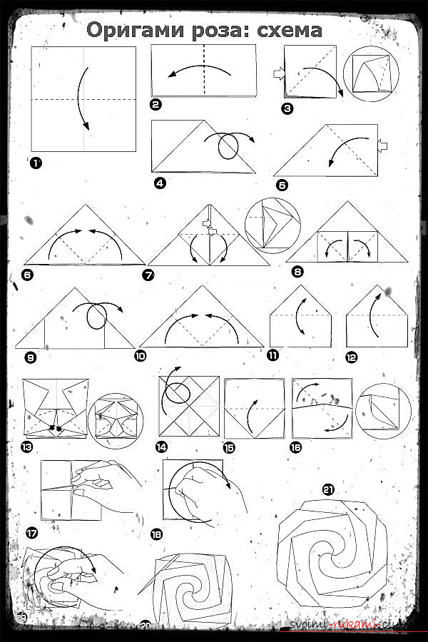 Советы для создания оригами-розы своими руками. Фотографии для работы.. Фото №3