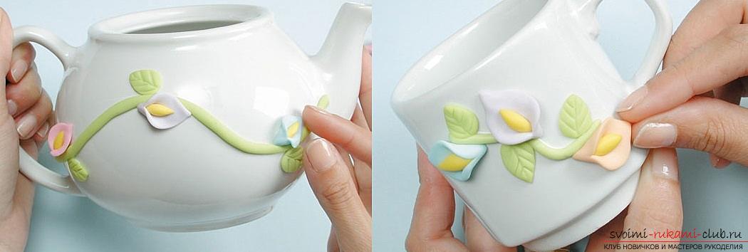 Как украсить бокалы полимерной глиной и как сделать кольца для салфеток из термопластики.. Фото №5
