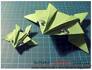 Как сделать из бумаги простую лягушку 27