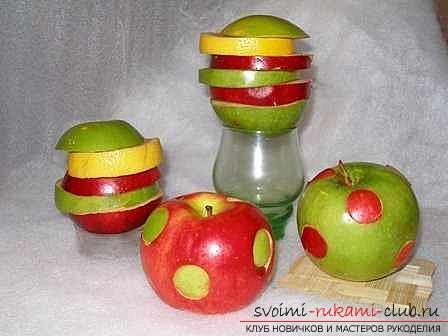 Осенние поделки из яблок