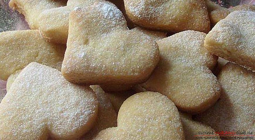 Творожные песочные печенья рецепт