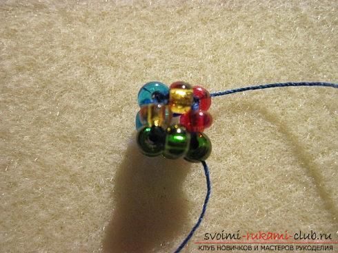 Мастер классы по плетению жгутов из бисера различных размеров, фото готовый изделий.. Фото №14