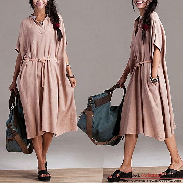 Простейшие платья с двумя швами