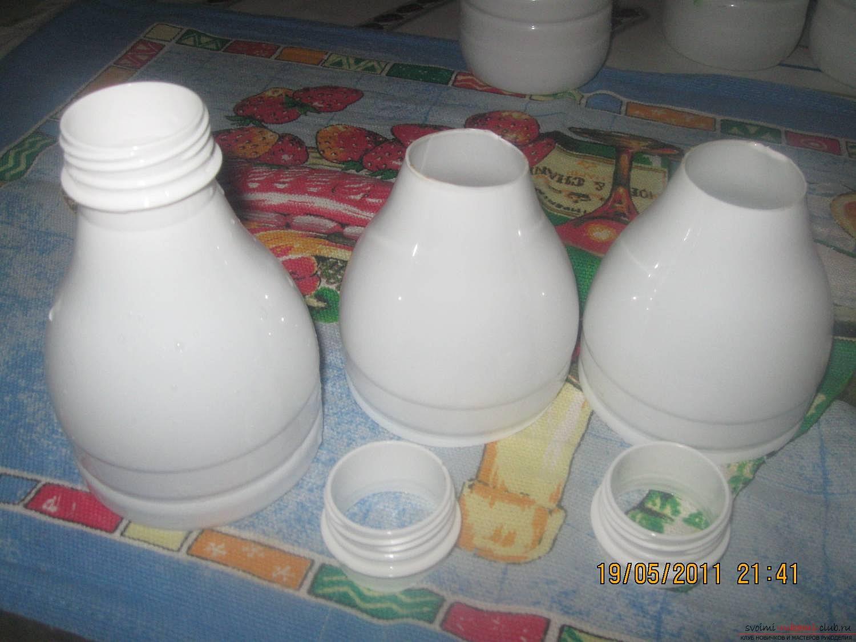 Ромашки из бутылок пластиковых своими руками пошагово