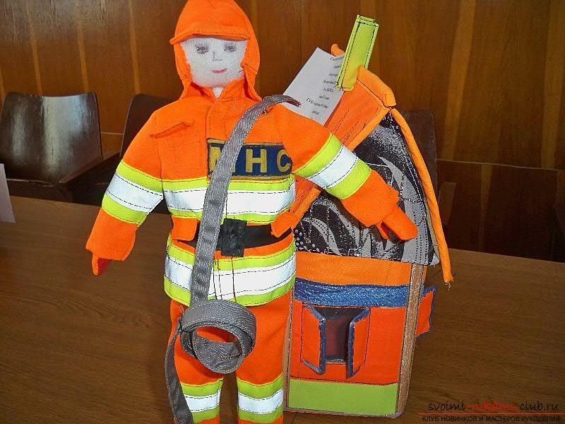 Красивые решения поделок для конкурса пожарной безопасности, фотографии.. Фото №3