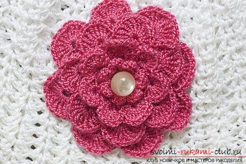 Цветочки крючком платья для