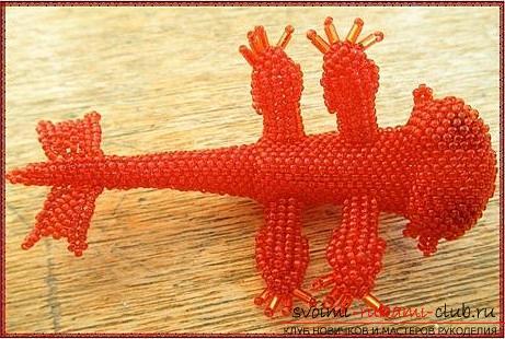 Два бесплатных мастер класса по плетению из бисера игрушек Беззубика и водяного дракончика