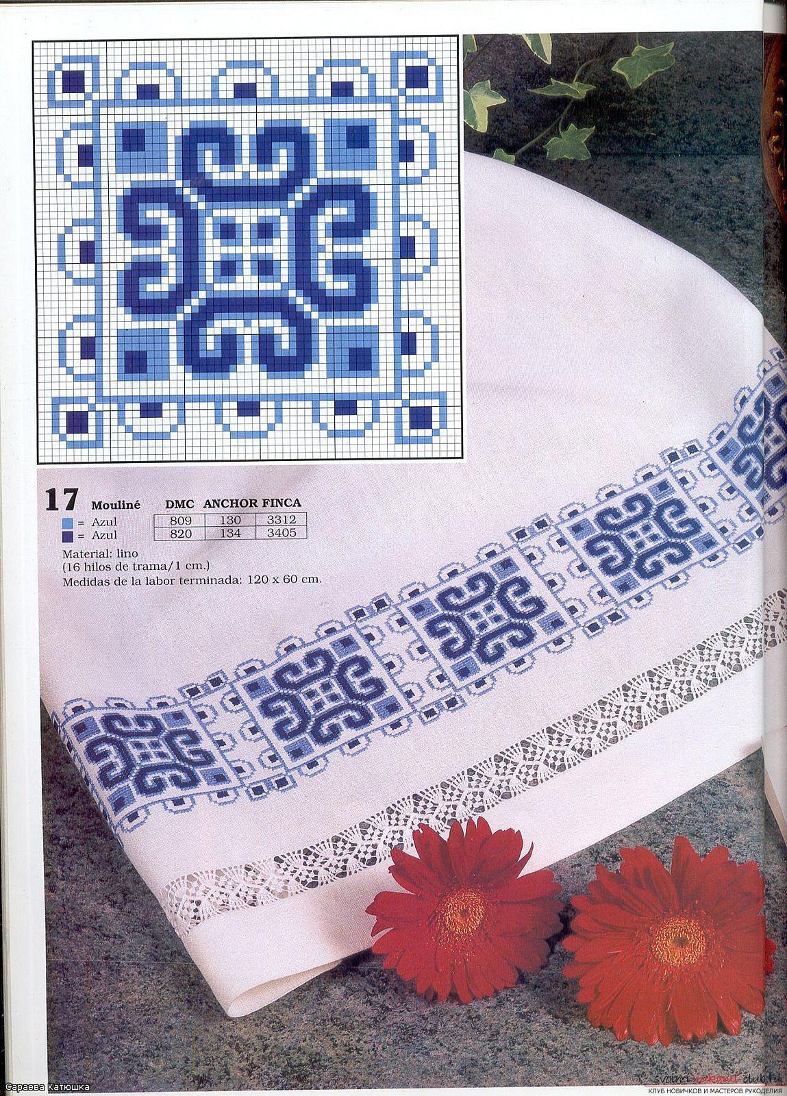 Учимся вышивке полтенец крестом по схемам и фото. Фото №11