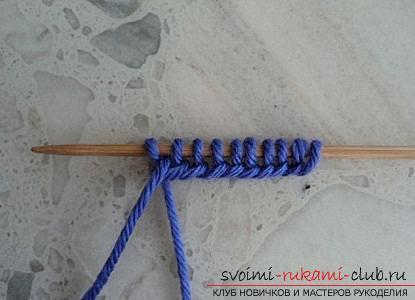 Учимся вязать тапочки двумя спицами. Фото №2