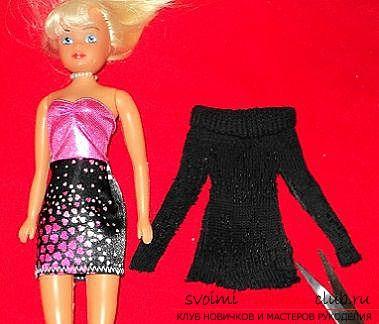 Одежда для кукол из носка своими руками видео