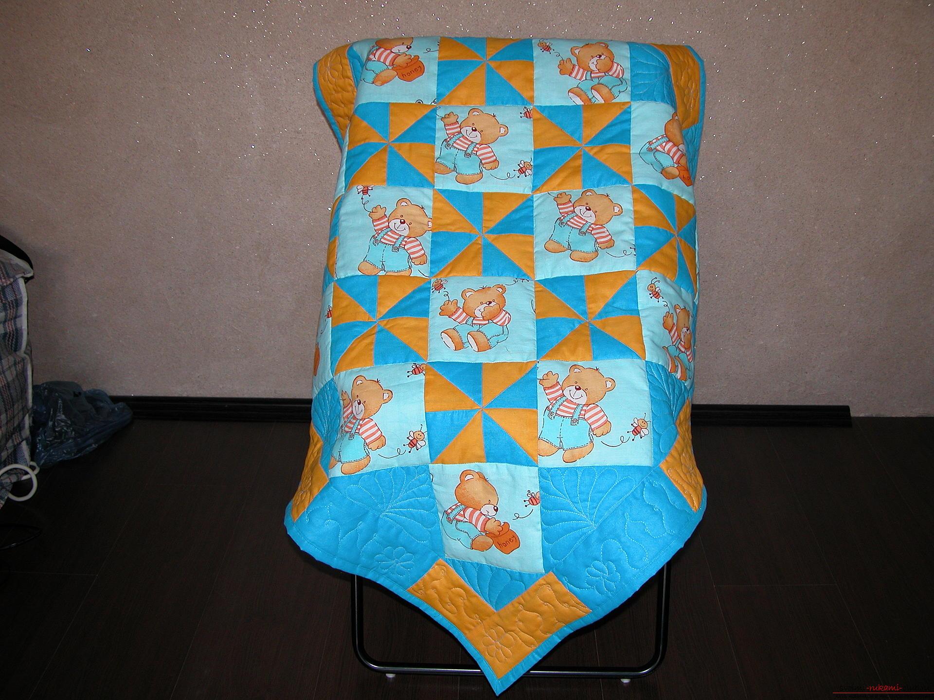 Подробный мастер класс по шитью детского лоскутного одеяла. Фото №1