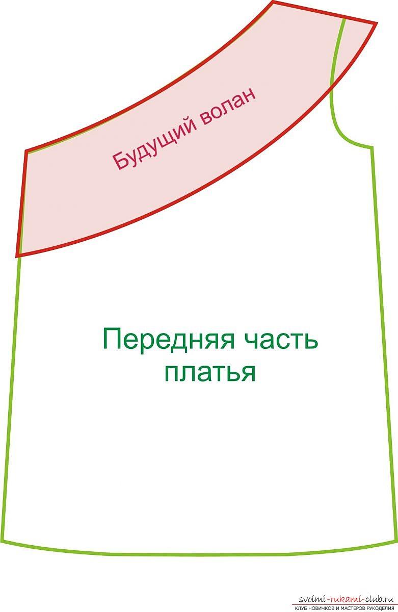 фотоинструкция для выкройки платья. Фото №7