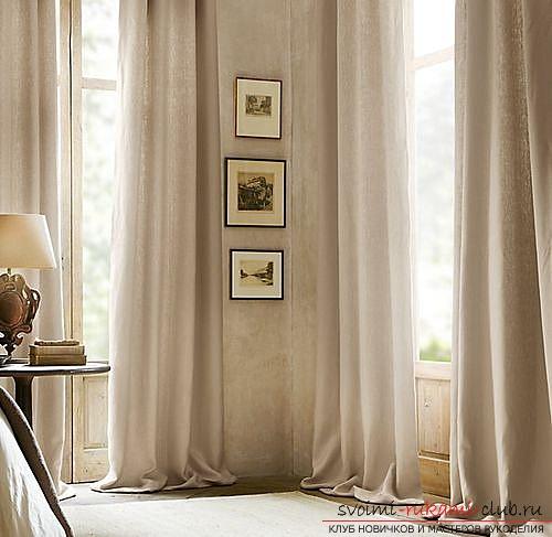 Фото примеры пошива оригинальных штор из льна. Фото №8