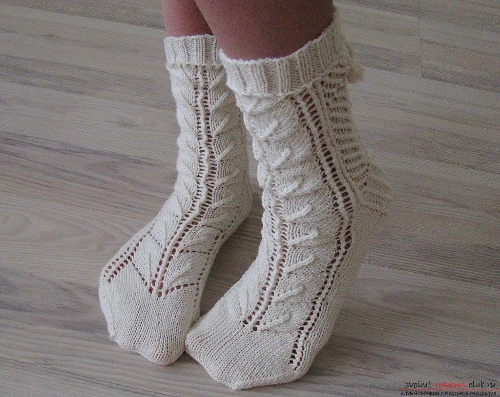 высокие носки спицами схема