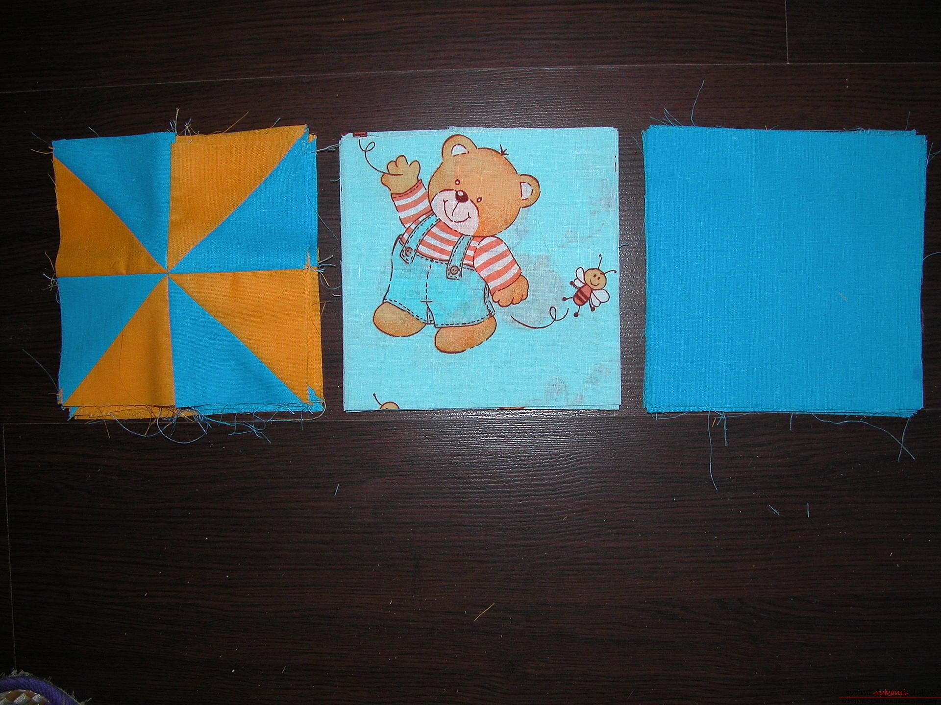 Подробный мастер класс по шитью детского лоскутного одеяла. Фото №8