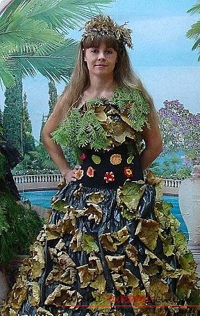 Как сделать своими руками осенние платье фото