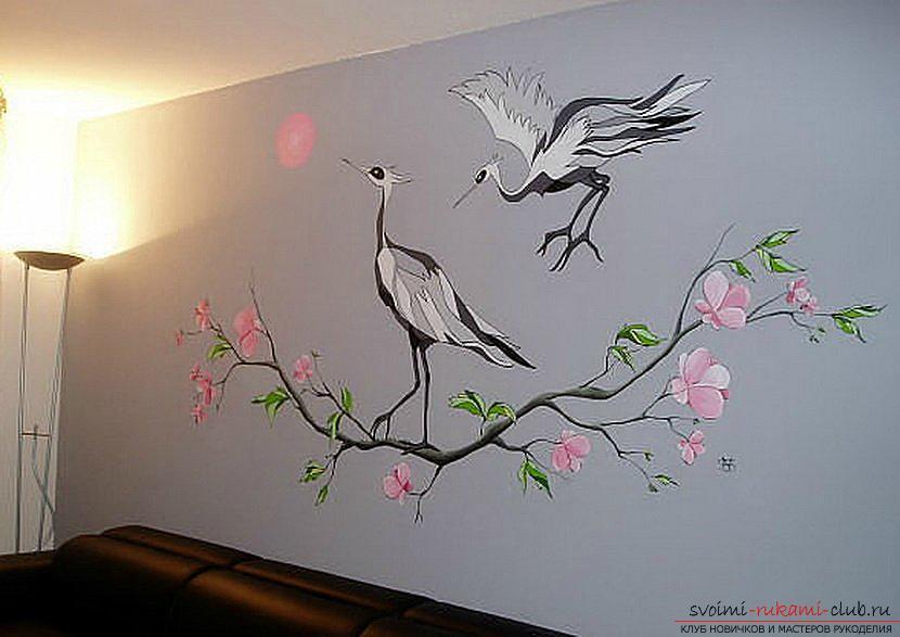 Роспись стен своими руками мастер класс