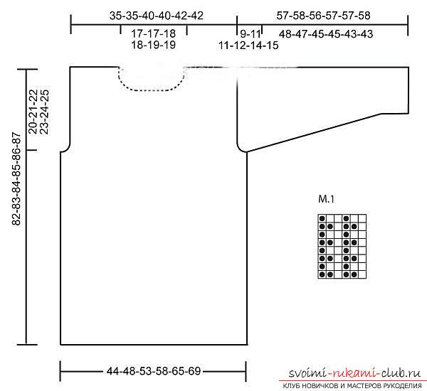 Вяжем свитер простым узором по схеме. Фото №2