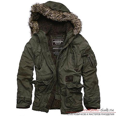 фотоинструкция по <u>мастер класс втачного кармана</u> созданию выкройки мужской куртки. Фото №1