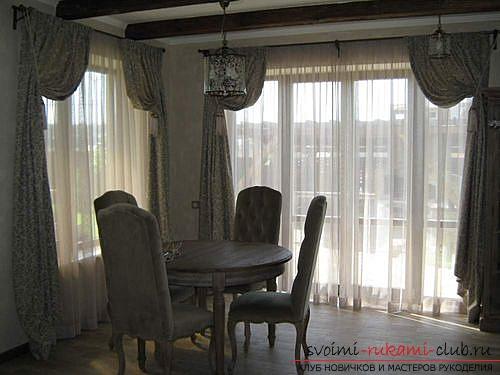 Фото примеры пошива оригинальных штор из льна. Фото №9