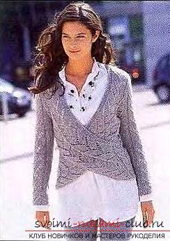 Вяжем двумя спицами ажурный пуловер для женщины. Фото №3