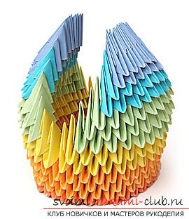 Как сделать лебедя оригами при помощи бумаги. своими руками и бесплатно.. Фото №11