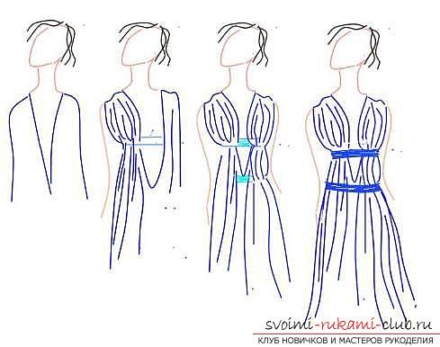 фото-инструкция для пошива платья. Фото №3