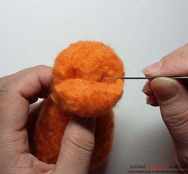 Как свалять красивого рыжего кота своими руками. Фото №4