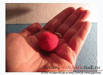 Делаем шарик с помощью сухого валяния своими руками