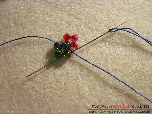 Мастер классы по плетению жгутов из бисера различных размеров, фото готовый изделий.. Фото №4