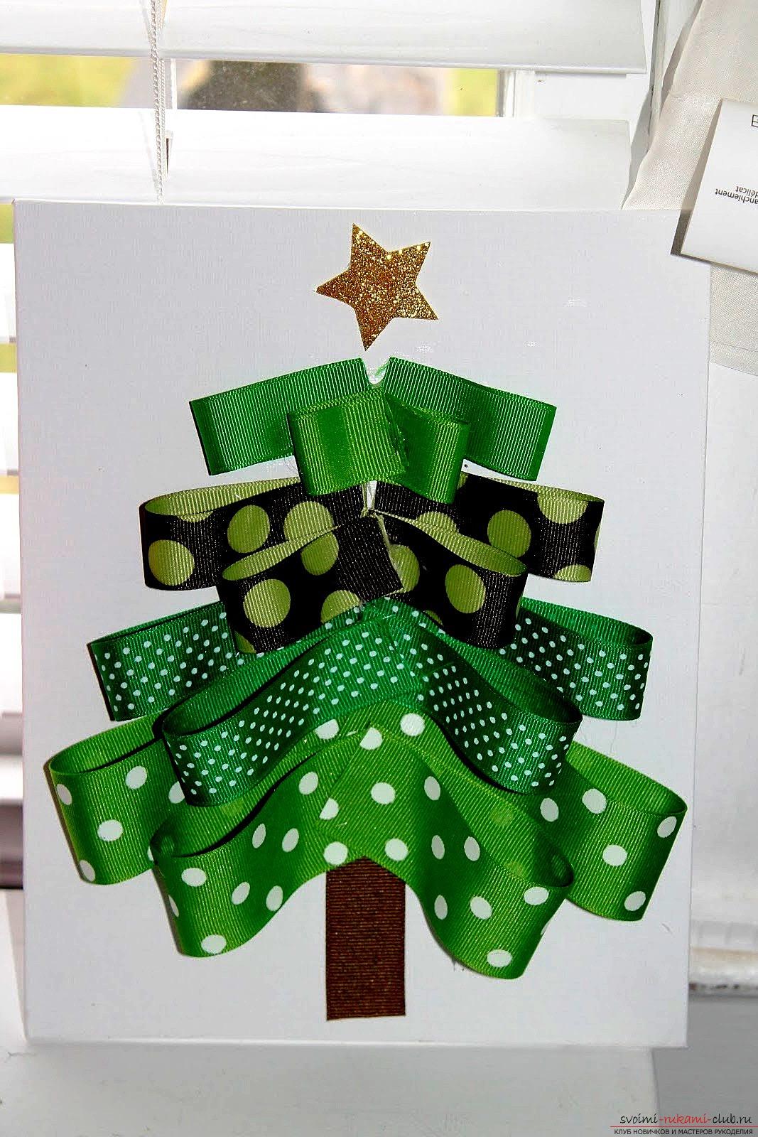 Как сделать объемные открытки на новый год своими руками