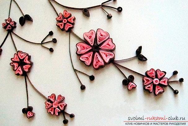 Квиллинг для начинающих на примере цветка. Фото №1