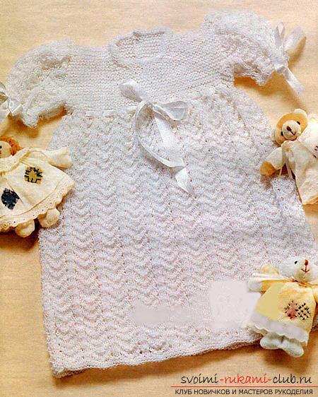 Белое платье для девочки до 1 года. Фото №4