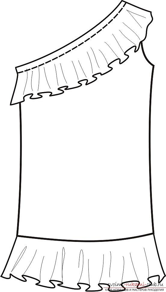 фотоинструкция для выкройки платья. Фото №1