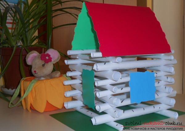 делаем домик из бумаги своими руками. Фото №6