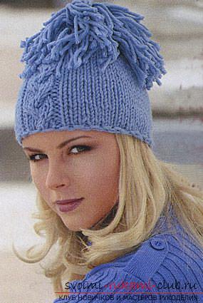 Вязание спицами шапки женские 2014-2015