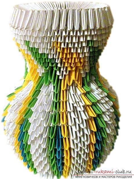 Ваза-оригами своими руками,