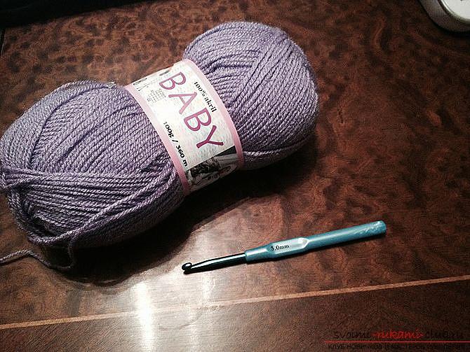 Красивый шарф, связанный крючком. Фото №1