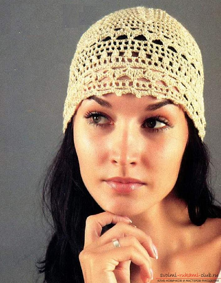 Летние шапочки для детей и взрослых, связанные своими руками крючком со схемами, описанием и фото.. Фото №2