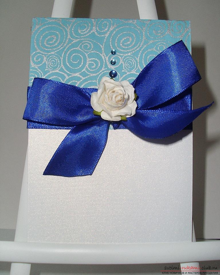 Легкая открытка на день рождения своими руками