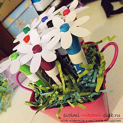 Как сделать оригинальный подарок своими руками для учителя на 1 Сентября.. Фото №13
