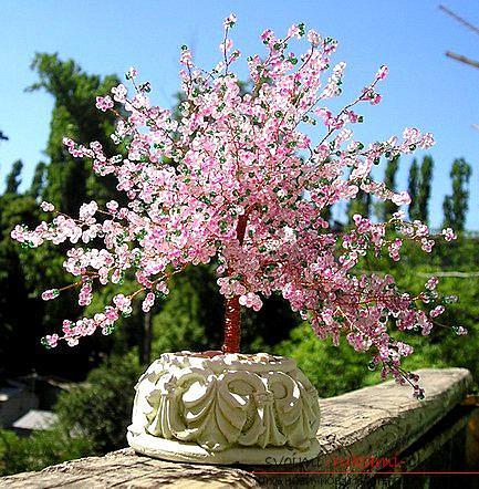 Как сплести сакуру из бисера, подробные мастер классы с пошаговыми фото и описанием.. Фото №34